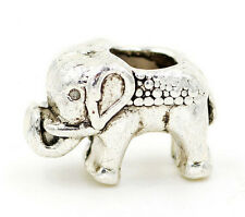 Wholesale 20/30/40pc 14x9x8mm Silver elephant Charm Spacer Bead jewelry finding