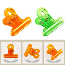 30Pcs Plastic Clip Colorful Office Stationery Paper Clip School Binding Supplies
