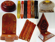 Assorted Wood Wooden Incense Joss Stick Cone Ash Catcher Holder Burner Box Chest