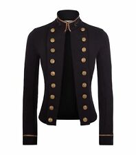 Ralph Lauren Denim & Supply Women Military Embroidered Officer Band Coat Jacket