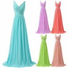 New Women Long Chiffon Formal Evening Party Ball Gown Prom Bridesmaid Dress 6-22