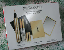 !!! Yves Saint Laurent YSL SET- TOUCHE ECLAT #2 FULL METAL SHADOW + MIRROR NIB