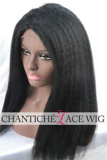 Italian Yaki Lace Front Wig Indian Remy Human Hair Full Lace Wig For Black Women