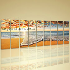 Extra Huge Hd Prints Contemporary Seascape Sunrise Canvas Wall Art Framed Large