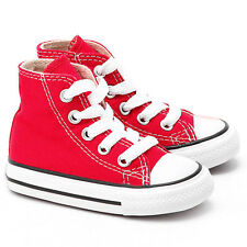 Converse All Star Chuck Taylor Hi Top Red White Toddlers Little kids New 7J232
