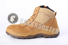 Hot Nubuck leather wheat Steel Toe Cap Work Boot Safety Boots Lace Up Ankle Boot