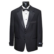 MEN'S BLACK 2-BUTTON TUXEDO BLACK TIE DINNER SUIT AND TROUSERS (EURO SIZE)*