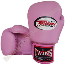 Twins Special Muay Thai Boxing Plain Gloves BGVL-3-PK Pink 8-10-12-14-16 oz.