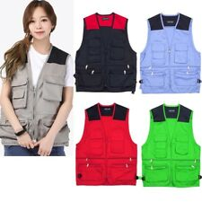 Mens Work Gilet Tool Vest Workwear Bodywarmer Multi Pocket Vest Jacket Waistcoat