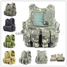 Tactical Military FSBE SWAT Police Camo Molle Combat Assault Plate Carrier Vest