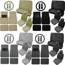 Scottsdale Lowback Seat Cover Steering Set & Carpet Mats Universal Car Truck Suv