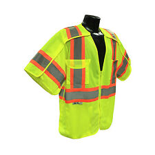 Radians SV24-3GM Class 3 Breakaway Surveyor Lime Vest