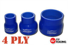 4 Ply Silicone Hose Reducer Straight Pipe Joiner Silicon Turbo Air Piping Blue