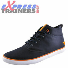 Voi Jeans Fiery Miracle Mens Canvas Hi Top Casual Navy Trainers