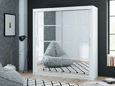 Brand New Modern Bedroom Sliding Door Mirror Wardrobe DAKO DAKOTA WHITE