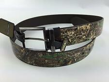Mens Realtree Reversible Genuine Leather Belt Camouflage Brown Size 32 36 38 NWT