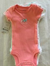 CARTERS 5 PACK ASSORTED GIRLS BODYSUITS BEAUTIFUL COLORS NWT MOMMY'S SWEETIE