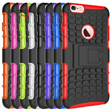 Shock-Proof Rubberized Hybrid Armor KickStand Case Cover for iPhone 4 5 6 7 Plus