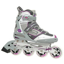 Rollerblades Inline For Women Roller Skates Grey Purple 4 Wheels Outdoor Sport