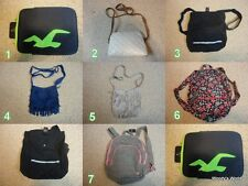Hollister Abercrombie Purse, Bag, Tote, Backpack, Tablet Covers NEW NWT!!