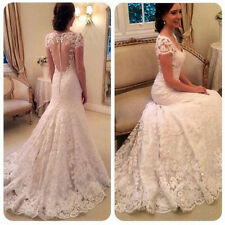 New Lace Mermaid Wedding Dress Bridal Gown Size 2 4 6 8 10 12 14 16 18 20 22++