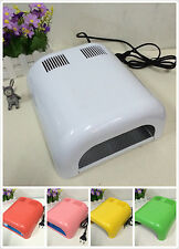 36W Professional UV Nail Lamp Art Gel Curing Light Dryer + 4 Tube Lamp