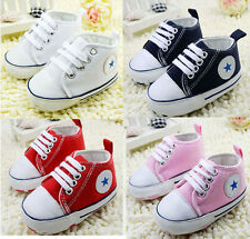 Infant Toddler Baby Soft Sole First shoes Crib Shoes Sneaker 0-18 Months