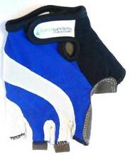 Cycling PRO-SERIES Short Finger / Fingerless Gloves Gel Padded Palm BLUE/WHITE