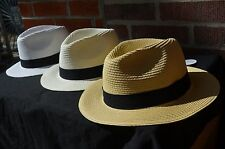 New Summer Women's Wide Brim Beach Panama Hat Crushable Outdoor Dress Hat Cap