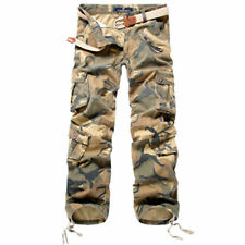 Mens Casual Combat Military camouflage Army Camo Fashion Cargo Pants Trousers