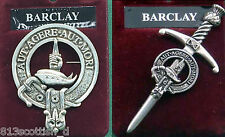 Barclay Scottish Clan Crest Badge or Kilt Pin Ships free in US