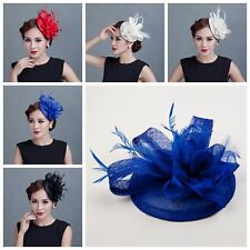 Sinamay&Feather Twist Headband Fascinator Hat Occasion Wedding Races Derby Clip