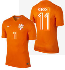 NIKE A. ROBBEN NETHERLANDS AUTHENTIC HOME JERSEY WORLD CUP BRAZIL 2014 HOLLAND.
