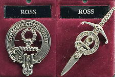 Ross Scottish Clan Crest Badge or Kilt Pin Ships free in US