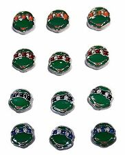 Teenage Mutant Ninja Turtle Characters Set of 3 Floating Charms  - You Choose