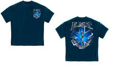 EMS EMT Emergency Medical Technician On Call for Life Blue Star of Life T-Shirt
