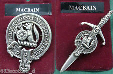 MacBean MacBain Scottish Clan Crest Badge or Kilt Pin Ships free in US