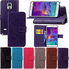 Flower Wallet Stand Flip Leather Case Cover For Samsung Galaxy Note 4 N9100