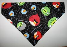 Angry Birds Black Dog Bandana Scarf-Slide over Collar-Size Small to XLarge