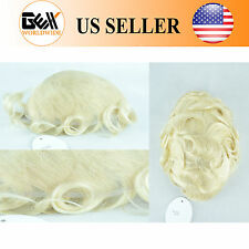 GEX Toupee Mens Hairpiece SWISS LACE Basement Wig Human Hair Systems 613#