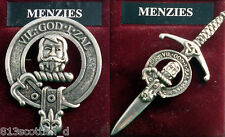 Menzies Scottish Clan Crest Badge or Kilt Pin Ships free in US
