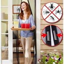 Fastening Magic Curtain Hands Free Fly Bug Insect Screen Door Mesh