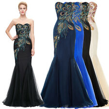 KK Stock Long Sexy Evening Party Gown Formal Bridesmaid Cocktail Dress Ball Prom