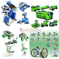 3/6/7/14 In 1 Educational Assembly Rechargeable Toy Car Robot Tank Kit RSUS