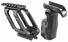 Universal Picatinny Rail Mount & Trig Cover Folding Foregrip for Glock 17,19,22