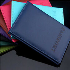 Travel Utility Simple Passport ID Card Cover Holder  Protector Skin Leather Nice