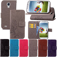 Retro Pattern Leather Wallet Card Stand Case Cover For Samsung Galaxy S4 i9500