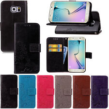 Retro Pattern PU Leather Wallet Card Stand Case Cover For Samsung Galaxy S6 Edge