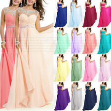 Crew Prom Bridesmaid Dresses Formal Evening Dress Crystals beads Size 6+++++++18