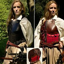 LARP Leather Womens Chest Armour - Black Or Brown - Perfect For Warriors